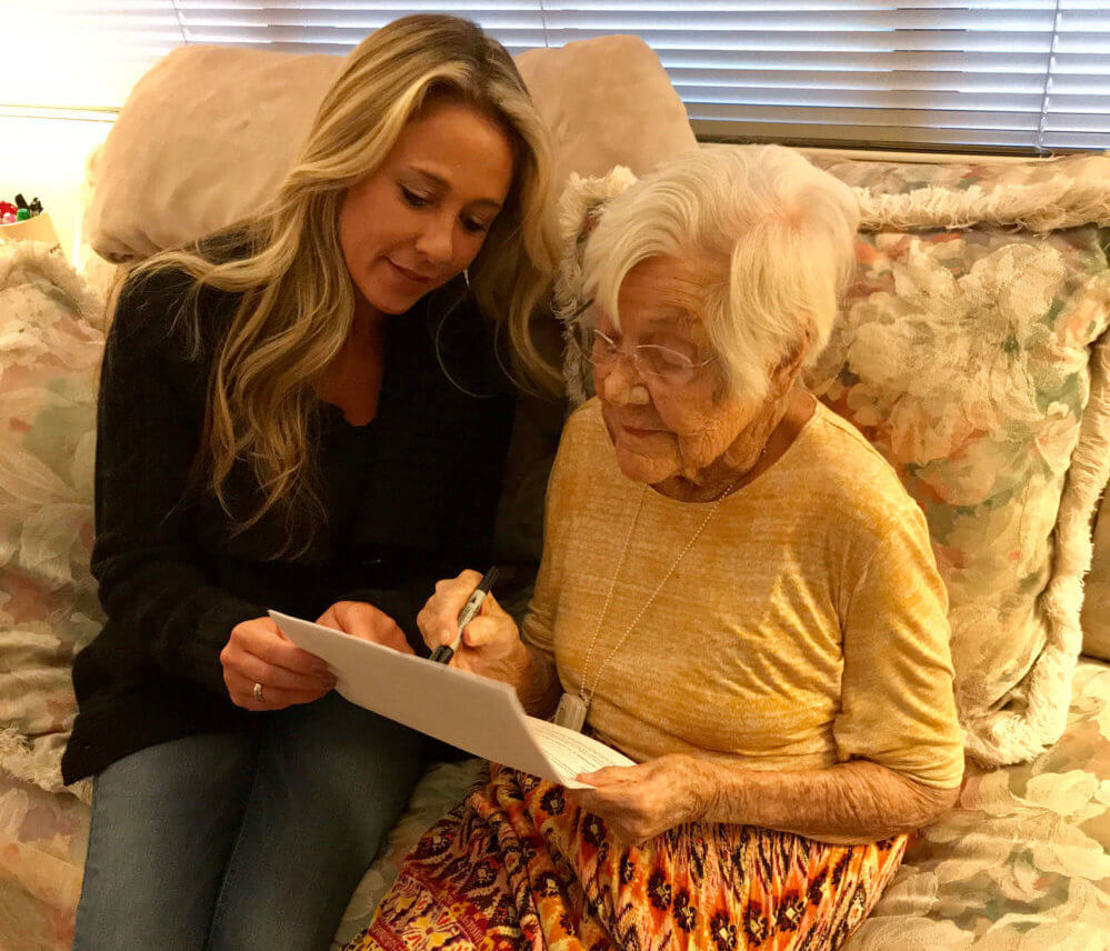 Elderly Health Care Advocate – Anne Getty with Grandma - One Voice RN Patient Advocates, LLC